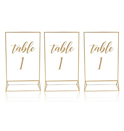 8a9556af7c2 Amazon.com  Gold Acrylic Frame Picture Table Holder