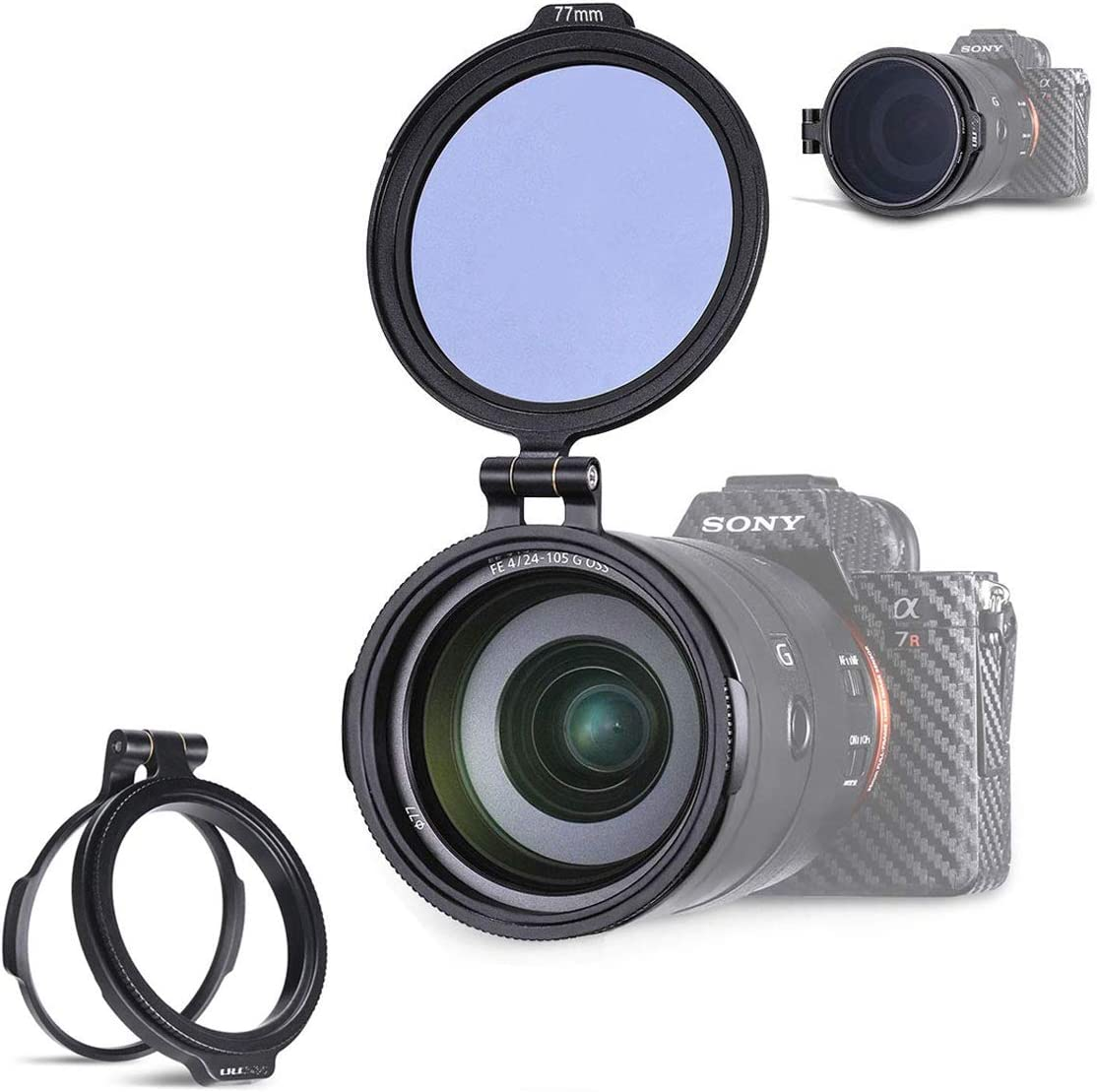 for 72MM Filter Yifant 49MM Aluminum Rapid Camera Lens ND Filter Mount Bracket Quick Filter Adapter Ring Exchange System