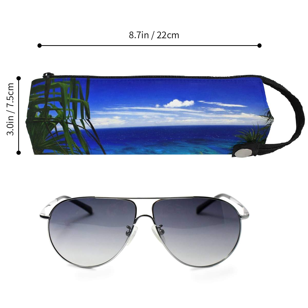 Light In Space Colorful Glasses Case Zipper Soft Sunglasses Pencil Bag Protective Pouch