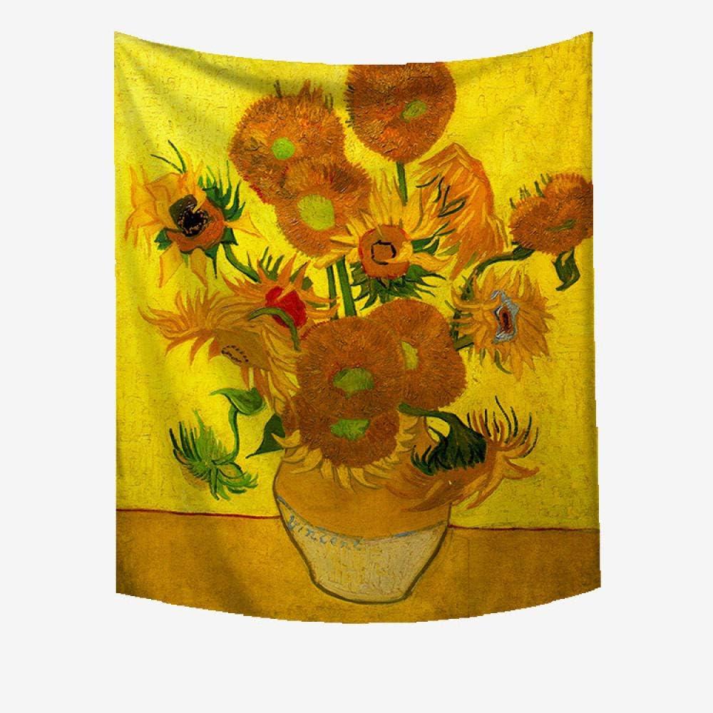Decorazioni Per Interni La Pittura Di Vincent Van Gogh Arazzi Dorato Brillante Girasoli Room Decor Art Stampa Tessuto Per Soggiorno Camera Da Letto Mwtwm Arazzo Da Parete Tapestry Wall Hanging Casa E