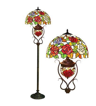 XNCH - Lámpara de pie de Estilo Tiffany con Pintura de ...