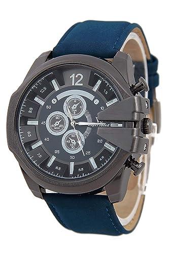 Reloj de pulsera - V6 Reloj de pulsera de cuero de imitacion de esfera para hombres