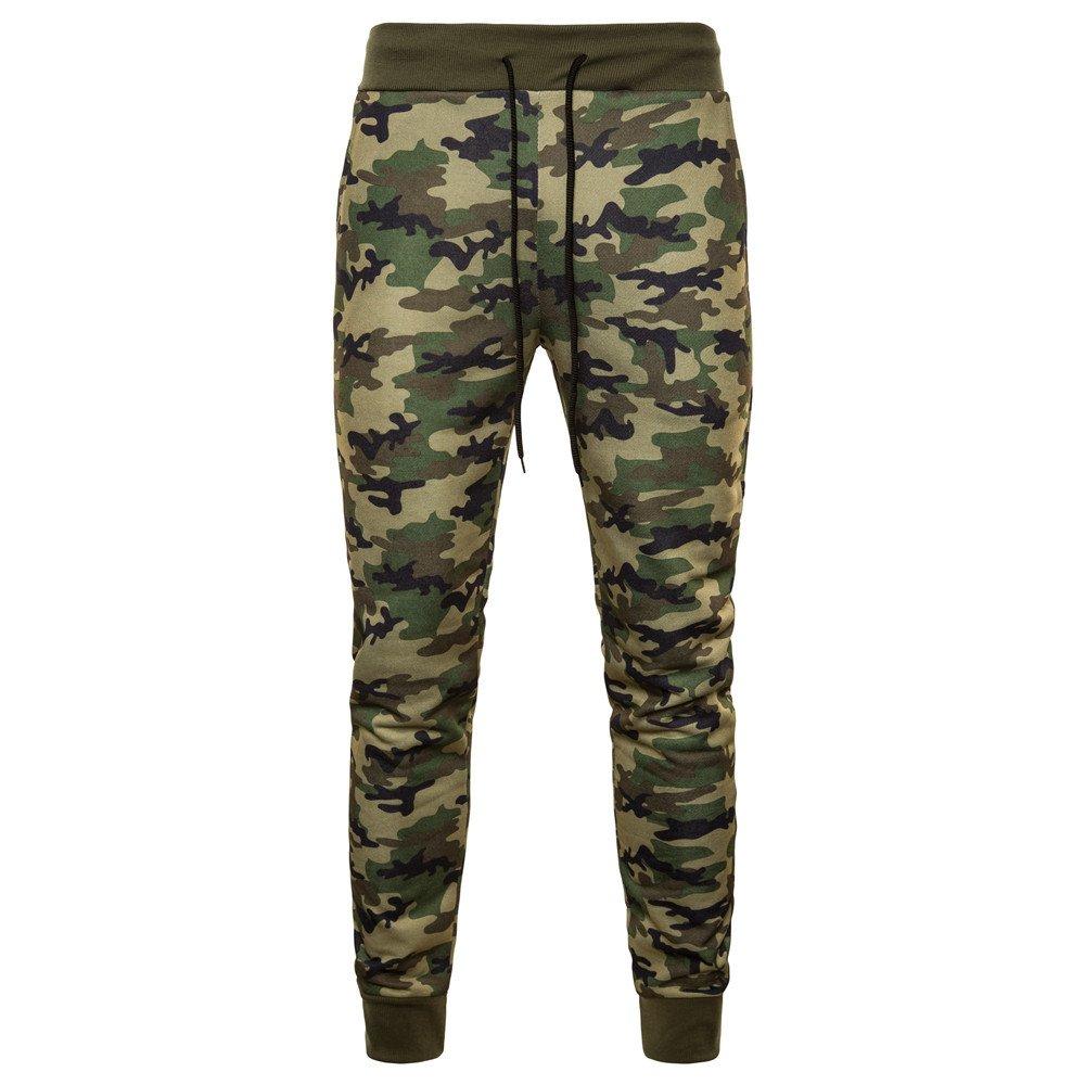 Mumustar Mens Camouflage Trousers Jogging Bottoms Elasticated Waist Casual Work Sweatpants Sports Running Tracksuit Long Pants Sportwear