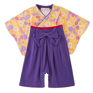98811ba31ad47 袴 ロンパース カバーオール 女の子 男の子 ベビー フォーマル 赤ちゃん 着物 和服 和風 巫女 和装 袴風 新生児