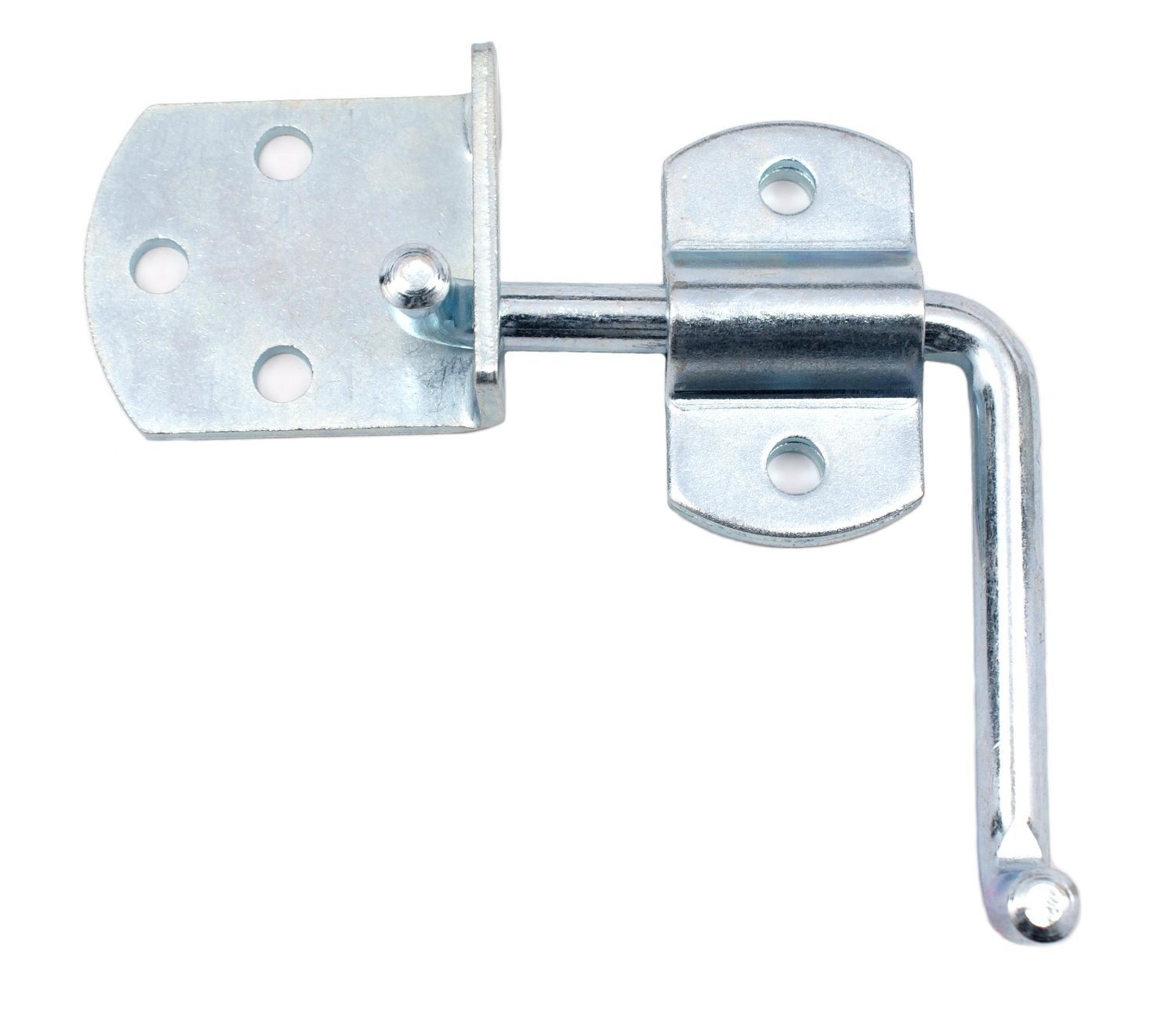 Pkg of (2) Side Gate Latch Sets for Stake Body Gates - Clear Zinc