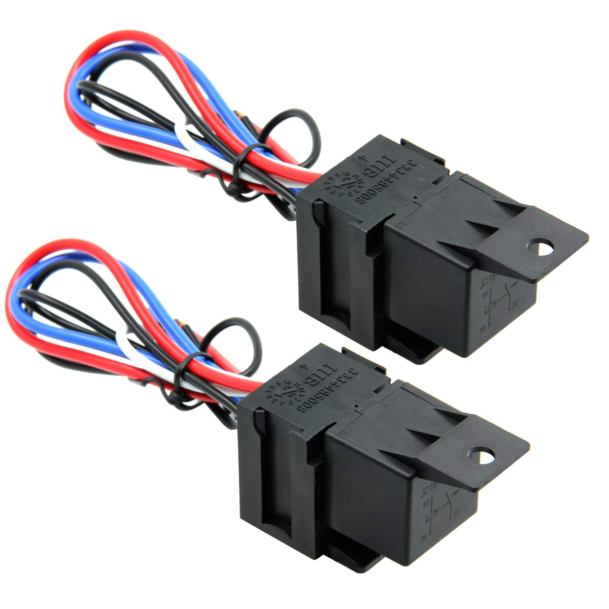 Car Truck Motor Heavy Duty Heavy Duty 5-Pin 80A 12V On//Off Normally Open SPDT Relay Socket Plug 5 Wire Automotive 1 Pack Ehdis/®
