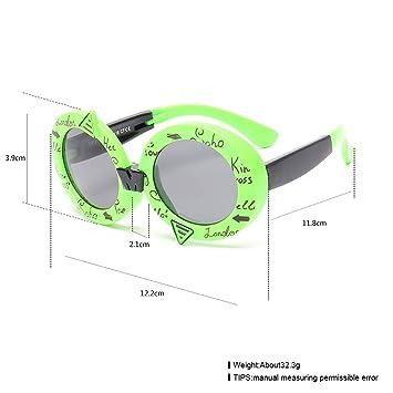 Mode Runde Kinder Anti - Uv Silikon Zusammenklappbare Sonnenbrille Sonnenbrille Baby Sonnenbrille , Weiß