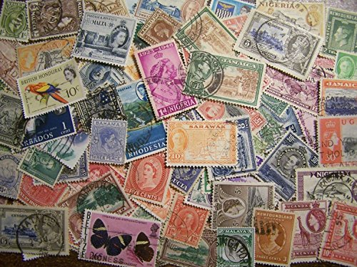 British Postage Stamps - 100 Pre-Independence British Empire Colonies Lot 1880s-1990s, No Commonwealth