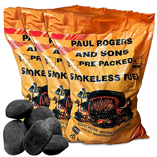 60kg of Smokeless Ovals Coal - Perfect for Open Fires, Multi-fuel stoves & Cookers - Comes With TCH Anti-Bacterial Pen!