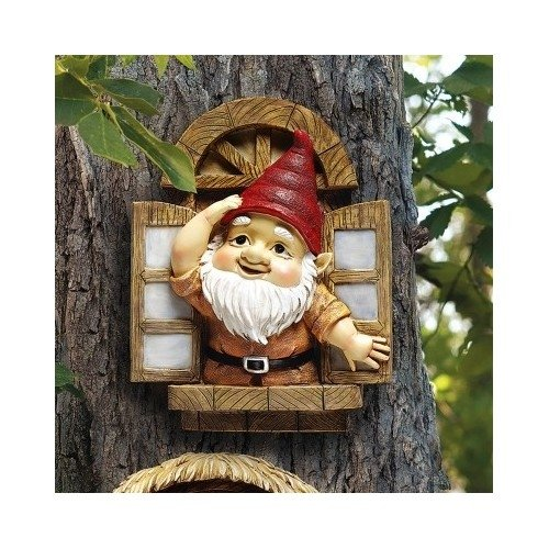 The Window Gnome Garden Statue Garden Sculptures Garden Statues Gnome Statues Yard Statues Lawn Decor Home Garden Decor (Gnome Travelocity Roaming)