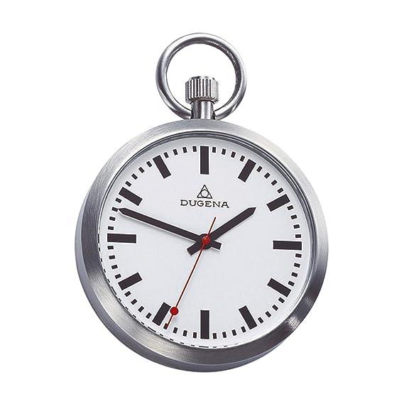 Dugena C335314 - Reloj de Bolsillo para Hombre (Caja de Acero Inoxidable Satinado con Cristal