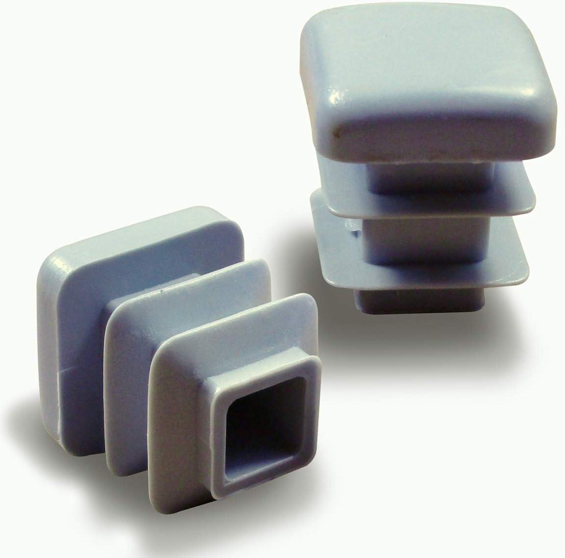 ECF116-FBA Ajile/® 16 piezzas Tapones cuadrados para pata de silla y almehadillas 16 x 16 mm DIMENSION EXTERNA con suela de fieltro contra ruido y ara/ñazos