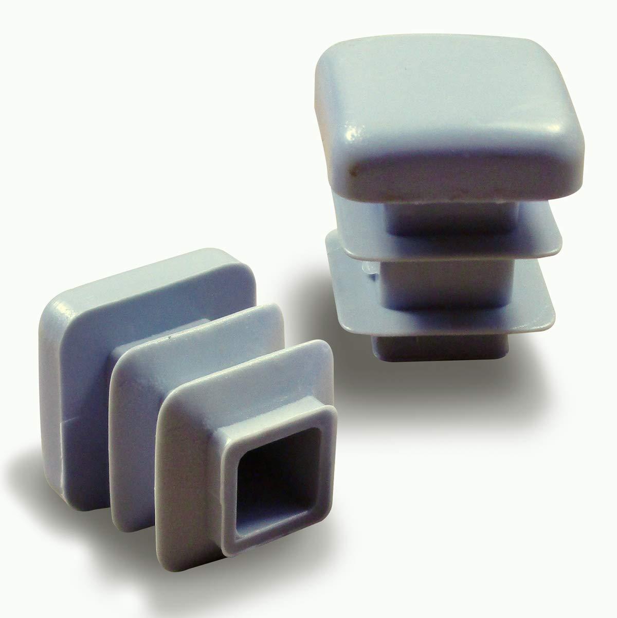 GRIS Ajile/® Contera plastic/ó redonda de interior para tubo esterior di/ámetro 13 mm EPR313x24-FBA 24 piezas