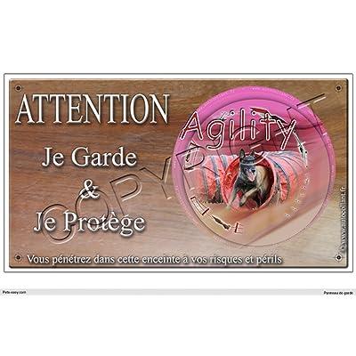 Panneau chien ou plaque Agility-Malinois-02 20 cm