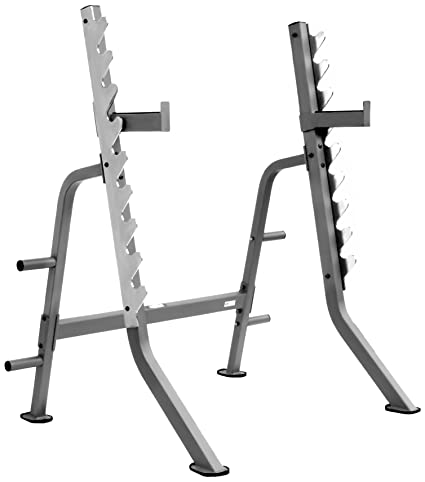 Amazon.com : XMark Multi Press Squat Rack with Olympic Plate Weight ...