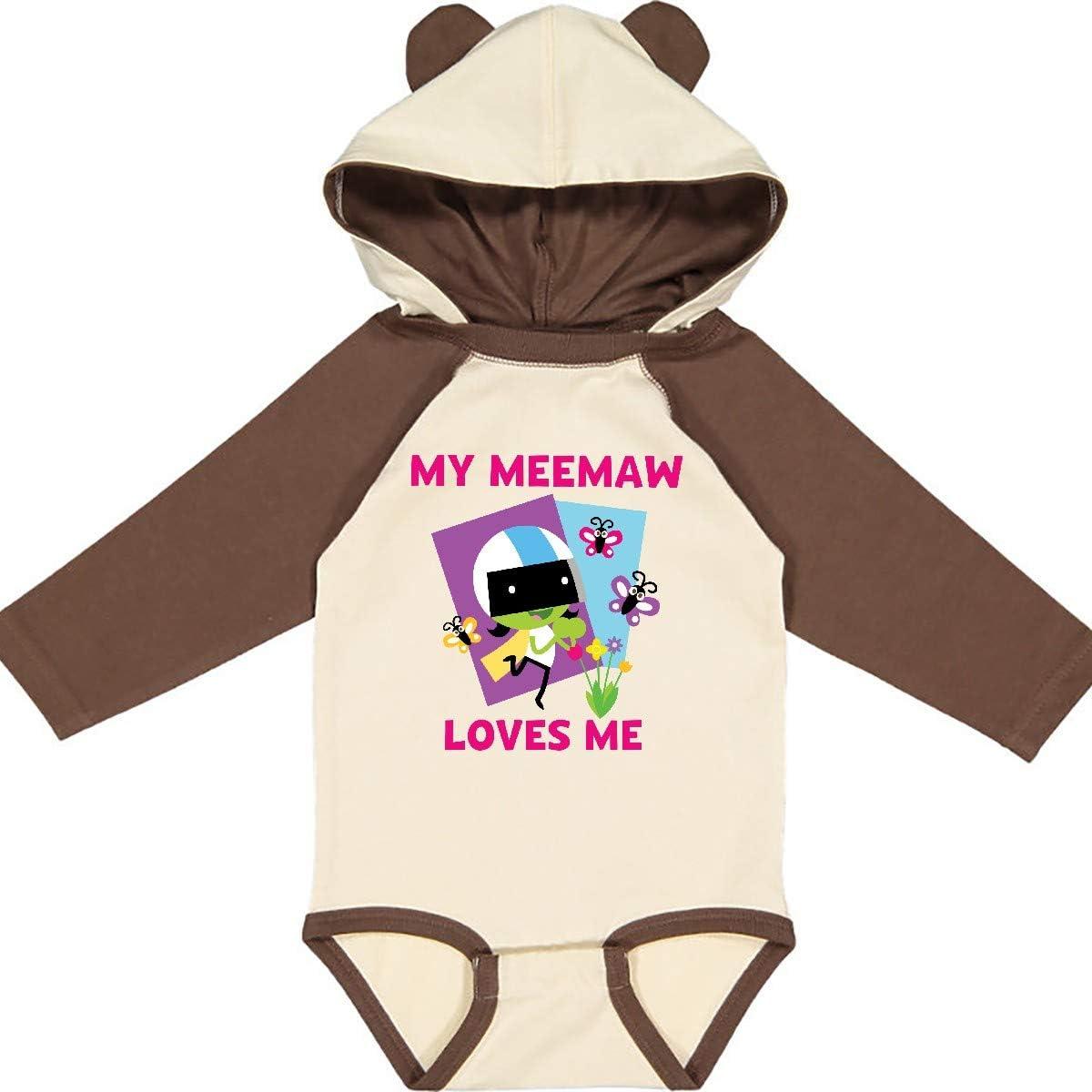 inktastic My Meemaw Loves Me with Dee Long Sleeve Creeper PBS Kids