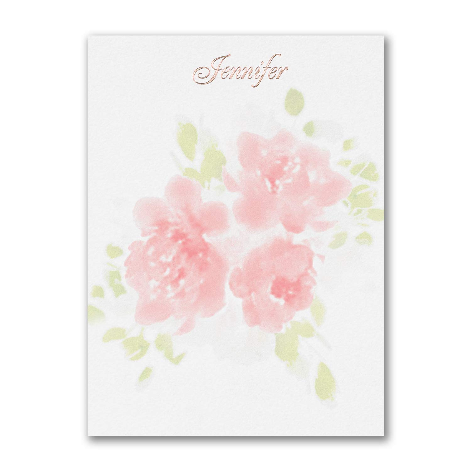 575pk Flower Pattern - Note Card-Note Cards