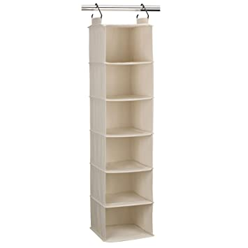 amazon com household essentials 3312 1 cotton canvas hanging closet rh amazon com Flower Shelves argos canvas hanging shelves