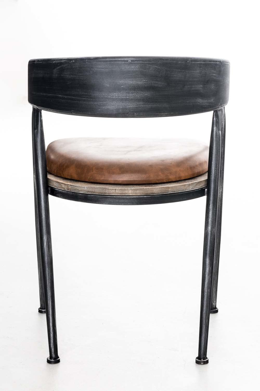 Sedia da Pranzo Stile Vintage Argento Antico Sedia Design Industriale in Metallo con Braccioli E Schienale CLP Sedia Rustica Imbottita Belvedere