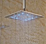 Ceiling Mounted Shower Head Rozin Bathroom LED Light 16