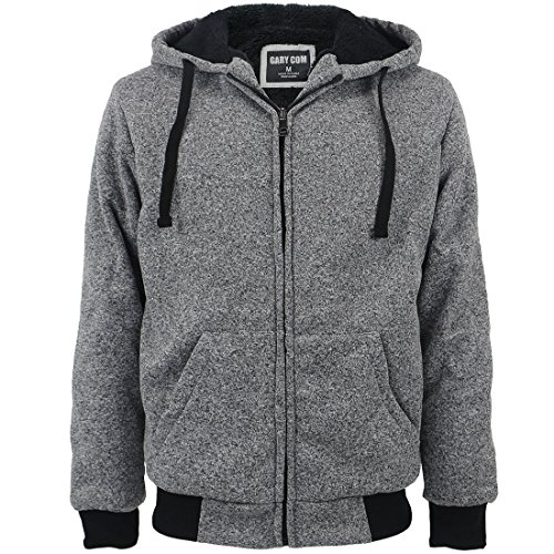 - Gary Com Marled Heavyweight Sherpa Lined Fleece Hoodies for Men Full-Zip Plus Size 5XL Men's Sweatshirts Jackets