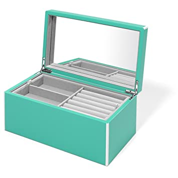 Amazoncom Swing Design Elle Lacquer Jewelry Box Turquoise Home