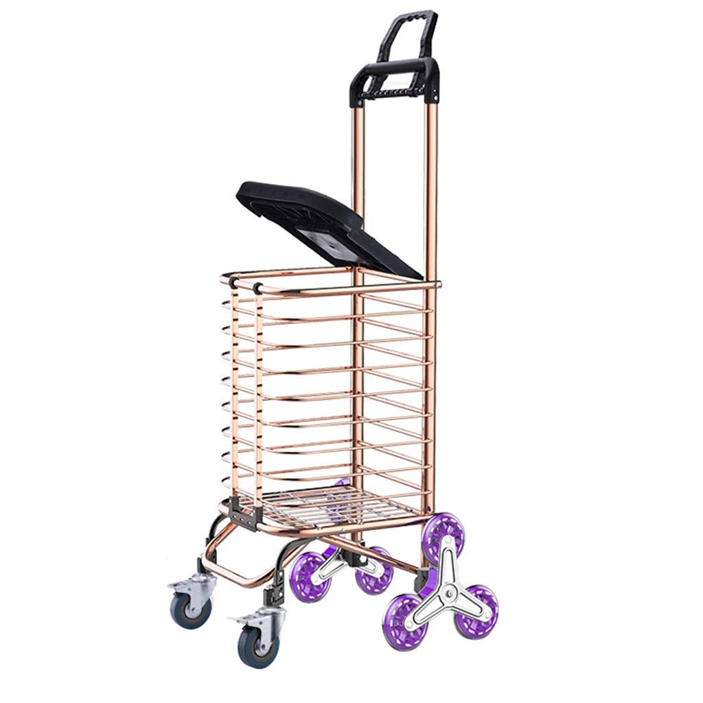 Xilinshop Portable Utility Carts Portable Collapsible Cart Can Climb The Stairs Up The Goods Home Shopping Trolley Small Trailer