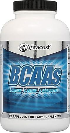 Vitacost BCAAs L-Leucine, L-Valine, L-Isoleucine — 2,400 mg per serving – 300 Capsules