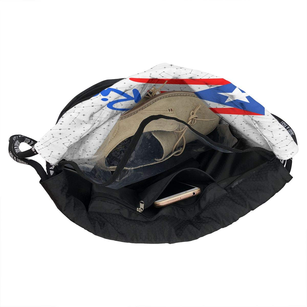 Puerto Rico Flag Drawstring Bag Multifunctional String Backpack Custom Cinch Backpack Sport Gym Sack