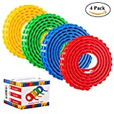 Block Tape for Lego Bricks - 4 Rolls Self Adhesive Strips for Lego Lover Non-toxic Cuttable Reusable Compatible with Lego Block Toys and Major Brands Building Blocks,Kids Toy Gift