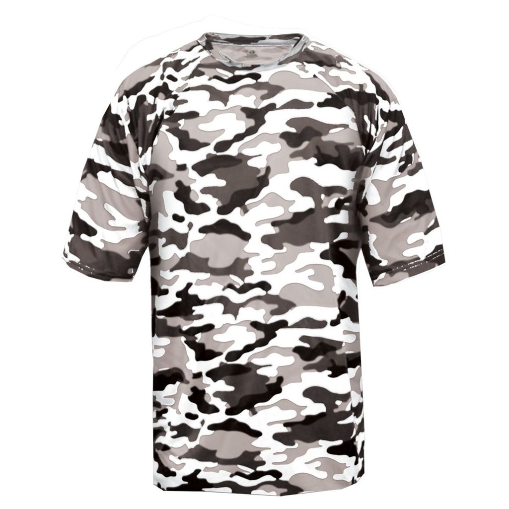 Badger Sport Youth Camouflage Tee (X-Small, White Camo) by Badger Sport