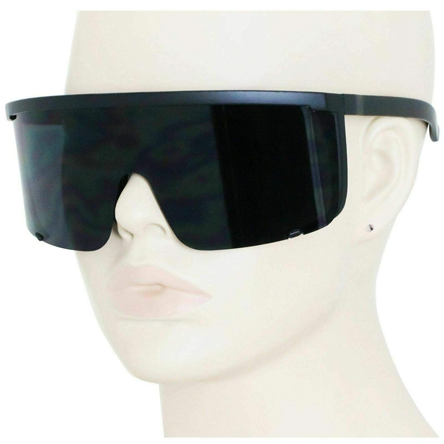 Best Product Oversized Exaggerated Visor Wrap Shield Mirror Sun Glasses #EGNH