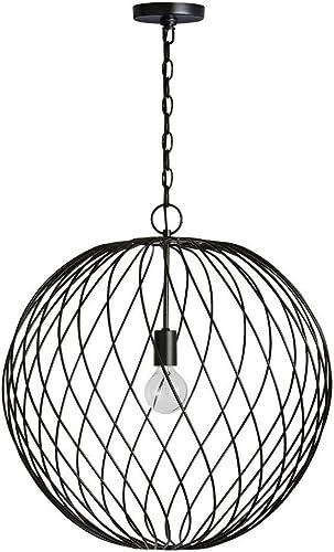 Austin Allen Co 9D349A Glenda – One Light Pendant, Black Finish