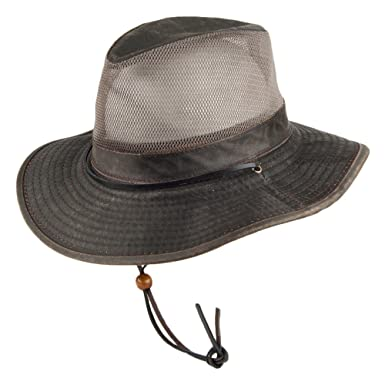 d37467676f5f7 Dorfman-Pacific Hats Weathered Cotton Safari Hat - Brown X-LARGE   Amazon.co.uk  Clothing