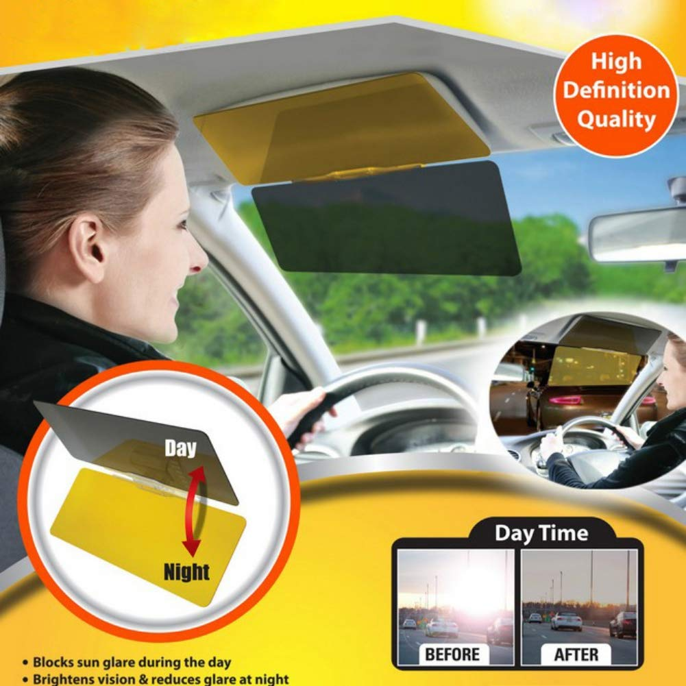 2 in 1 Anti-Glare Visor Day and Night Driving Visor EDAL MKYUHP Car Sun Visor Extender Anti-Glare Sun Blocker,Automobile Windshield Visor
