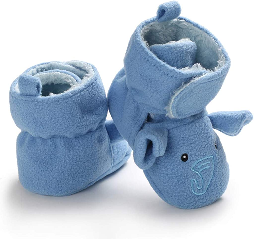 Jamicy /™ Baby Toddler Shoes Soft Bottom Shoes Casual Sports Shoes Elephant Pattern Cotton Shoes Rubber Soles Girls Boys Animal Shoes First Walkers Soft Sole Shoes Sneakers