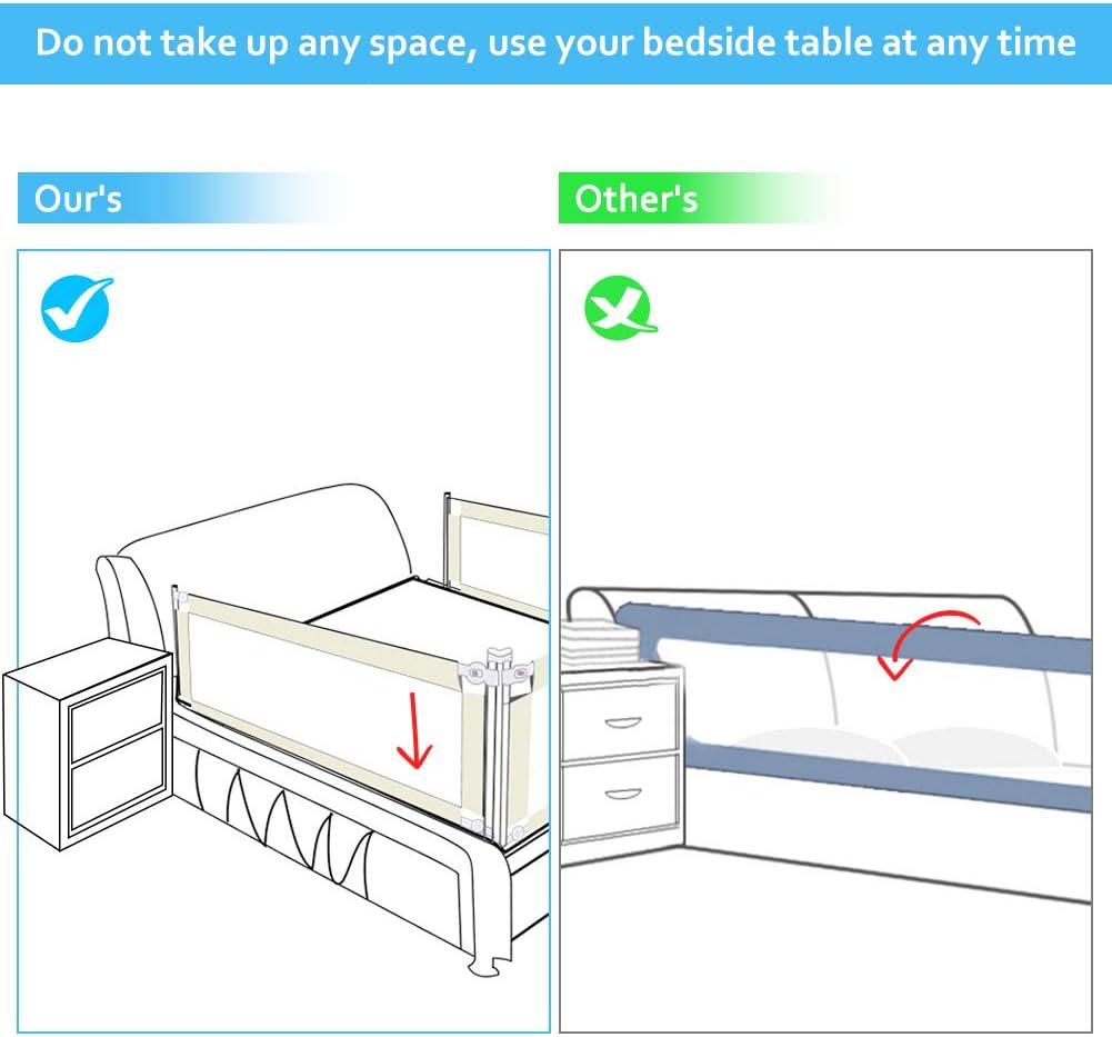43 barri/ère de s/écurit/é universelle 34.5 cm rose Barri/ère de lit pour enfants protection amovible pour lit pour enfant 150