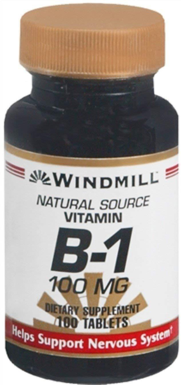 Windmill Vitamin B-1 100 mg Tablets 100 Tablets (Pack of 10)