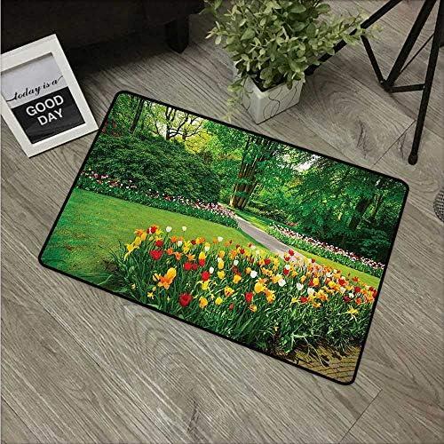Anzhutwelve - Alfombrillas de jardín para niños, diseño de Flores románticas, Color Morado, Azul y Rosa: Amazon.es: Jardín