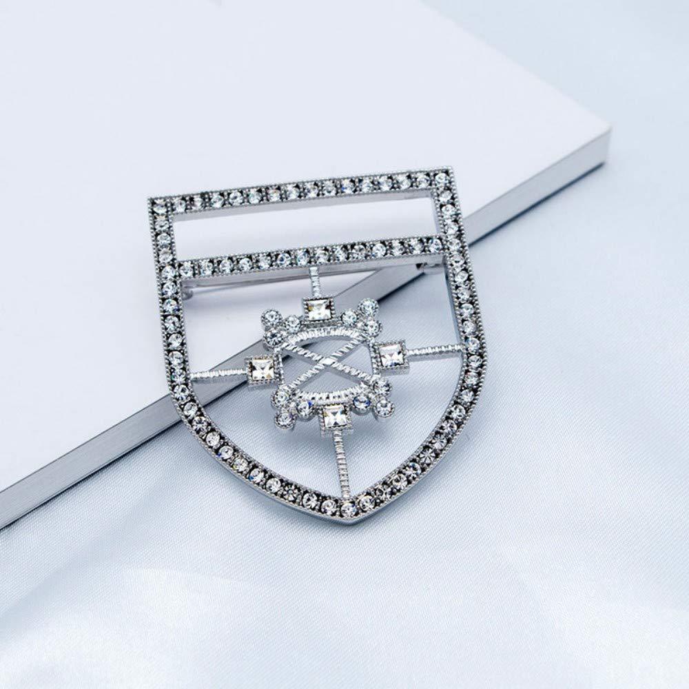Vintage Chest Emblem Brooch Alloy Inlaid Zircon high-Grade Clothing