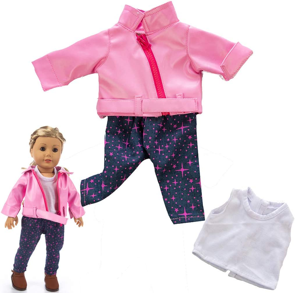 Black Fashion Clothes Jacket Coat for 18 Inch Our Generation American Boy Doll Accessory Girl Toy Doll Clothes Outfits for 18 Inch New Born Baby Dolls