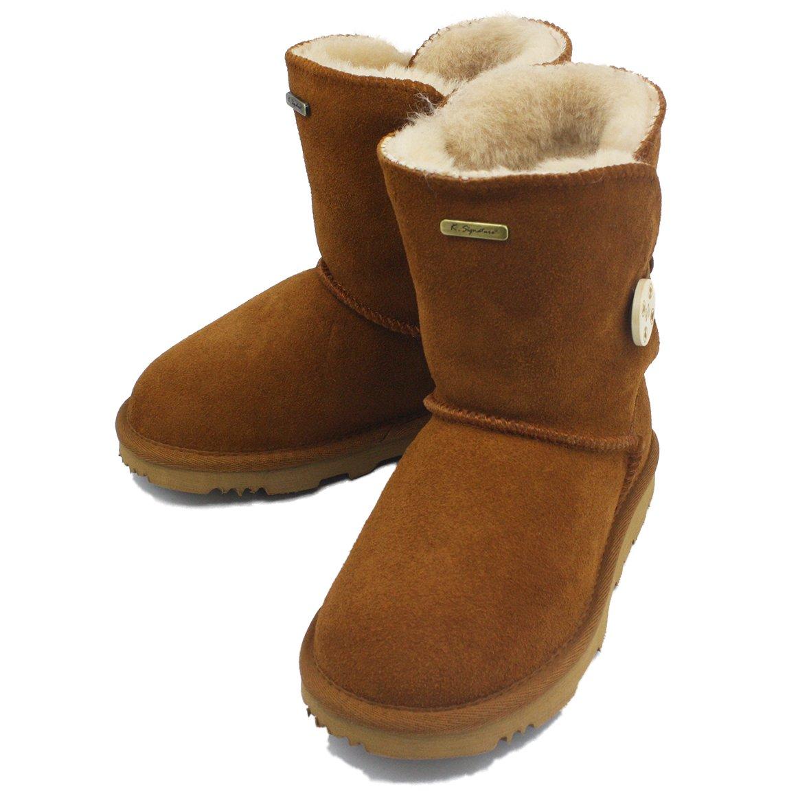 K.SIGNATURE Little Kids Summer Chestnut Australian Sheepskin Boot 2 M Us