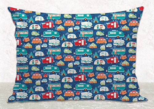 Blue Pillow Cover - Cushion Cover - Camping Décor - Fits 16