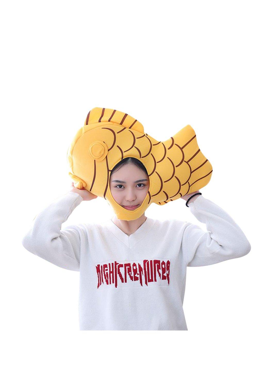 Pattistore Halloween Taiyaki Hat Fish Head Masks Japanese Cooking Mask Hat Cosplay Costume accessories