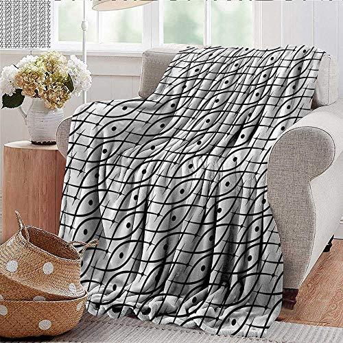 (Xaviera Doherty Flannel Fleece Blanket Geometric,Trippy Leaf Spots Throw Lightweight Cozy Plush Microfiber Solid Blanket 35