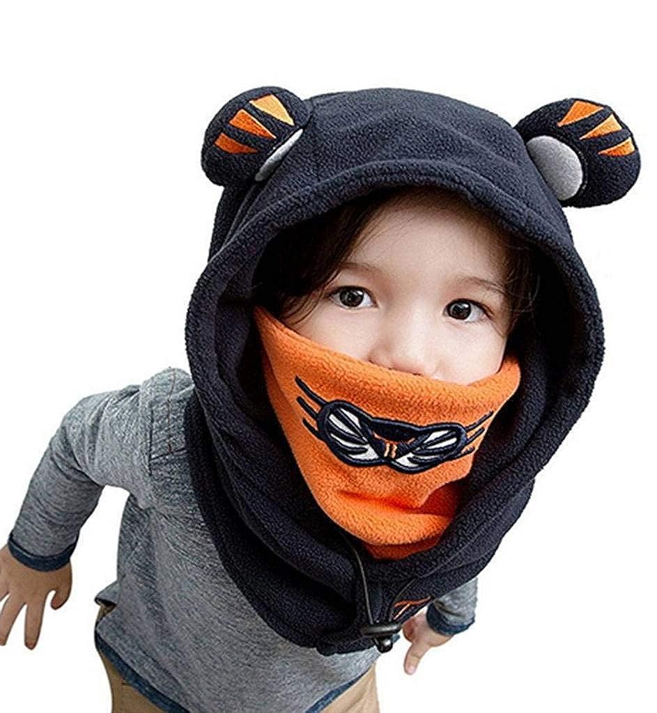YiyiLai Children Baby Winter Ear Cap Hooded Head Tiger Neck Warm Hat YYL-171009-B004