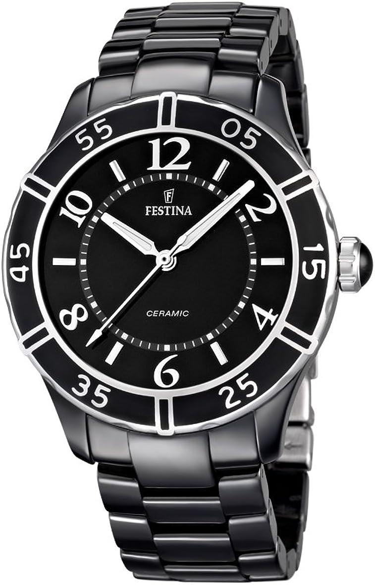 Festina F16621/2 - Reloj Multiesfera Para Mujer, color Negro