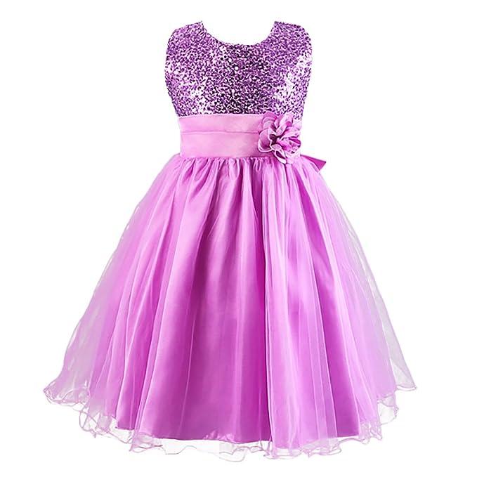 LPATTERN Elegante Vestido Flores Sin Mangas Verano Ceremonia Fiesta Princesa Casual Infantiles Boda Lazo Brillante 170cm
