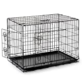 SmithBuilt Double Door Folding Metal Dog Crate, 48 Inch Long with Divider For Sale