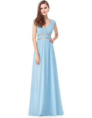 49abbdbdd0bb Ever-Pretty Women s Elegant V-Neck Sleeveless Formal Long Evening Dress  08697